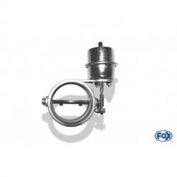 Abgasklappe Ø 76mm zum einschweißen - funktioniert mit Unterdruck - um Ruhezustand offen