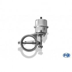 Abgasklappe Ø 63mm zum einschweißen - funktioniert mit Unterdruck - um Ruhezustand offen