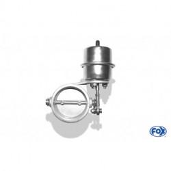 Abgasklappe Ø 63mm zum einschweißen - funktioniert mit Unterdruck - im Ruhezustand geschlossen