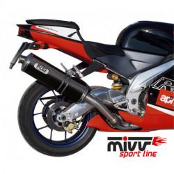 MIVV Exhaust APRILIA RSV 1000 OVAL Carbon A.001.LE