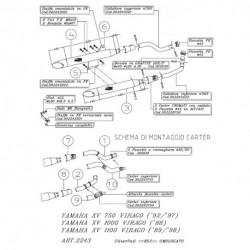 K02 YAMAHA XV VIRAGO 750/1000/1100 SLIP-ON 2243