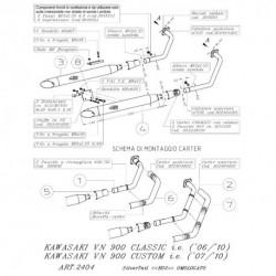 K02 KAWASAKI VN 900 CLASSIC/CUSTOM i.e. FULL SYSTEM 2404