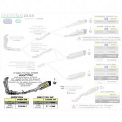 Arrow Competition EVO Komplettanlage Race-Tech 4in1 Titan mit Edelstahlkrümmer und Carbonendkappe KAWASAKI ZX 6 R 71131CKR