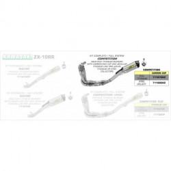 Arrow Competition Komplettanlage 4in1 Race-Tech Titan mit Edelstahlkrümmer und Carbonendkappe KAWASAKI ZX 10 R 71166CKZ