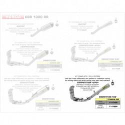 Arrow Competition Komplettanlage Pro-Race Titan mit Edelstahlkrümmer HONDA CBR 1000 RR 71170CP