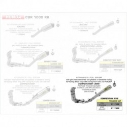 Arrow Competition Komplettanlage Pro-Race Volltitan HONDA CBR 1000 RR 71171CP