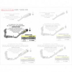 Arrow Competition Komplettanlage Race-Tech Titan mit Edelstahlkrümmer und Carbonendkappe HONDA CBR 1000 RR 71174CKZ