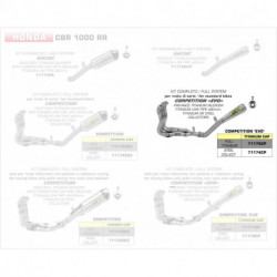Arrow Competition Komplettanlage Pro-Race Volltitan HONDA CBR 1000 RR 71175CP