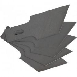 Ersatz-Schaberklingen 0,6x16 mm x 53 Grad, 5-tlg., passend für BGS 364