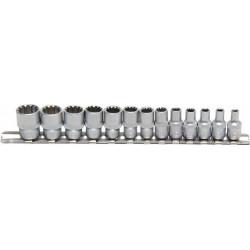 Gear Lock Steckschlüssel-Einsätze , 6,3 (1/4), 13-tlg.