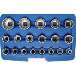 Gear Lock Steckschlüssel-Einsätze 12,5 (1/2) , 19-tlg.
