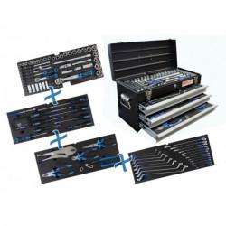 Metall-Werkzeugkoffer | 3 Schubladen | mit 143 Werkzeugen