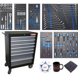 Werkstattwagen | 7 Schubladen | mit 129 Werkzeugen