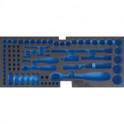 Schaumeinlage für Art. 3312, leer: für Steckschlüsselsatz
