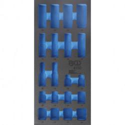 1/3 Werkstattwageneinlage (408x189x32 mm), leer für Kraft-Steckschlüssel-Einsätze, 20-tlg.