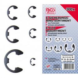 E-Sicherungsring-Sortiment, 1,5-22 mm, 300-tlg.