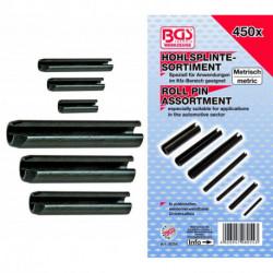 Hohlsplinte/Federstifte-Sortiment, 450-tlg.