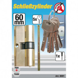 Messing-Schließzylinder, 60 mm