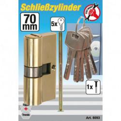 Messing-Schließzylinder, 70 mm
